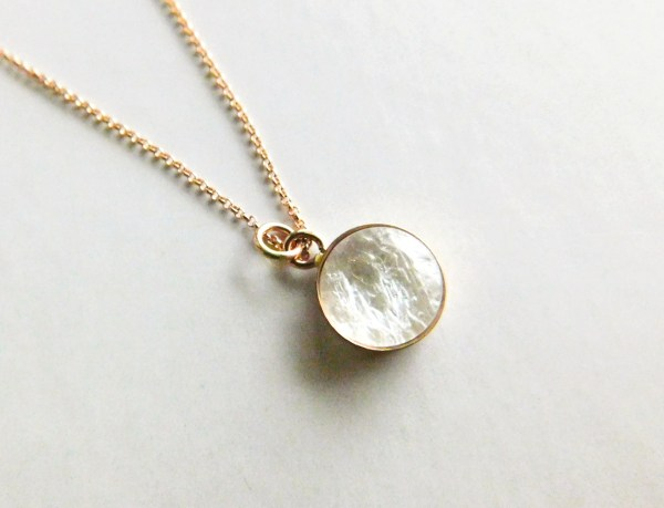 simply 14k rose gold filled necklace