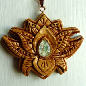 Hand-carved Wood DNA Memorial Jewelry Pendants