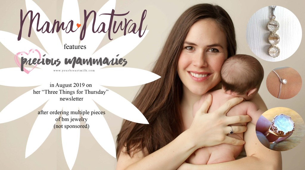 Mama Natural Genevieve feature breast milk jewelry review and recommends