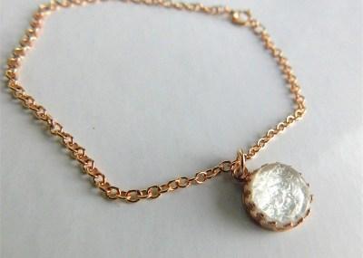Gold Crown of the Queen Breast Milk Jewelry Bracelet