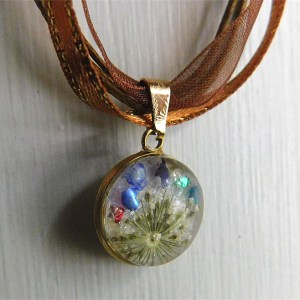 breast milk jewelry birthstones dried flowers necklace