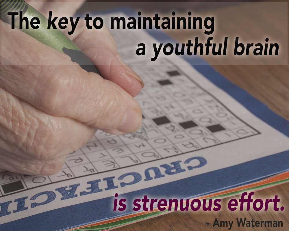 Crossword Puzzles Won't Stave Off Dementia, But This Will