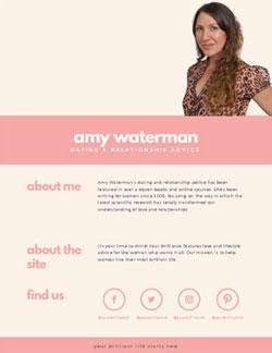 Amy Waterman media kit