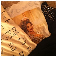 """A few other cute finds in Miami including this """"Last Night a Blogger Saved My Life"""" tee, a studded and embellished sweatshirt, and, of course, my souvenir """"Mrs. Carter World Tour"""" tank top."""