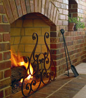 Masonry-Wood-burning-Fireplace-with-Metal-Accessory