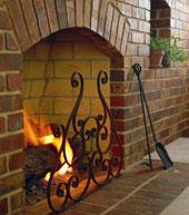 Masonry-Wood-burning-Fireplace-with-Metal-Accessory