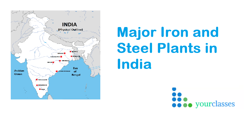 Major Iron and Steel Plants in India