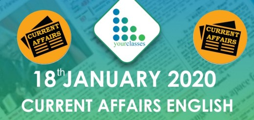 18 Jan Current Affairs in English