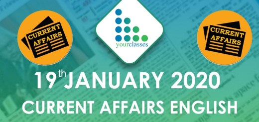 19 Jan Current Affairs in English