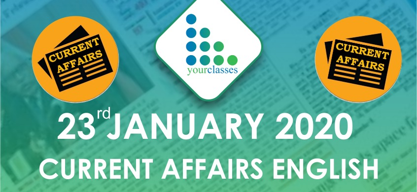 23 Jan Current Affairs in English