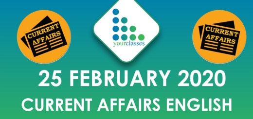25 February Current Affairs in English