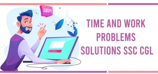 Time and Work Problems Solutions SSC CGL