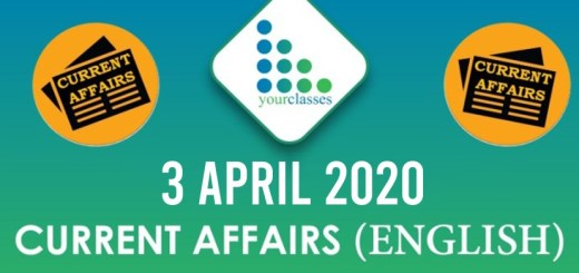 3 April Current Affairs 2020 in English