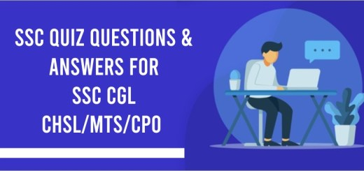 SSC quiz questions & answer for SSC CGL
