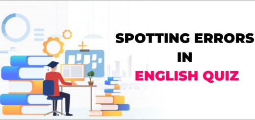 spotting errors in english quiz