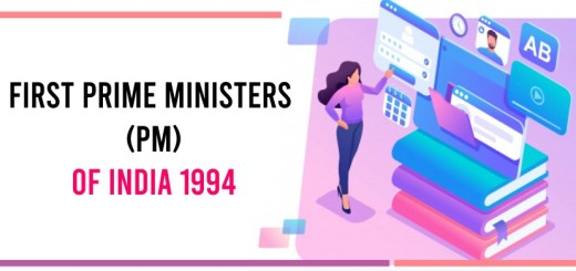 First Prime Minister (PM) of India 1994 in Hindi/English
