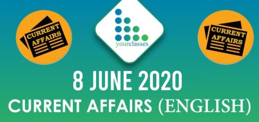 8 June Current Affairs 2020 in English