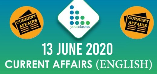 13 June Current Affairs 2020 in English