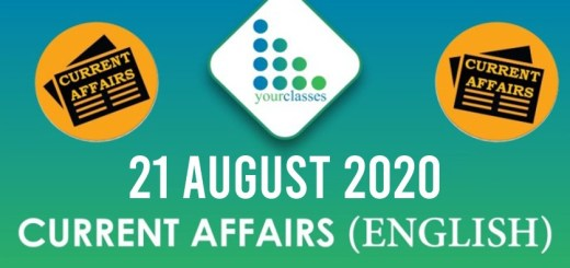 21 August 2020 Daily Current Affairs English