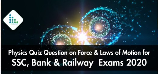 Physics Quiz Question on Force & Laws of Motion