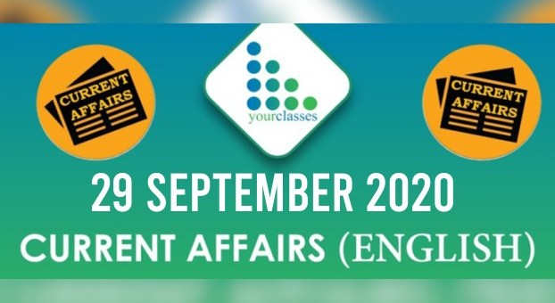 Daily Current Affairs 29th September 2020 in English