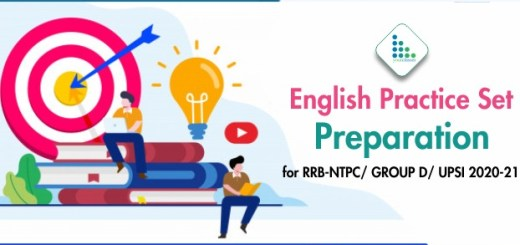 English Practice Set Preparation for RRB-NTPC/ GROUP D/ UPSI 2020-21