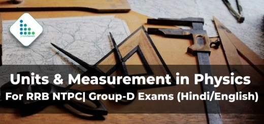 Units & Measurement in Physics For RRB NTPC| Group-D Exams (Hindi/English)