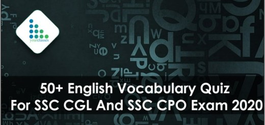 50+ English Vocabulary Quiz For SSC CGL And SSC CPO Exam 2020