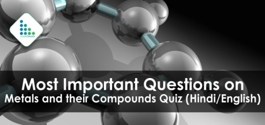 Most Important Questions on Metals and their Compounds Quiz (Hindi/English)