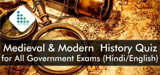Medieval & Modern History Quiz for All Government Exams (Hindi/English)