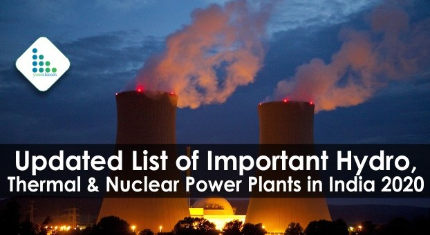 Updated List of Important Hydro, Thermal & Nuclear Power Plants in India 2020