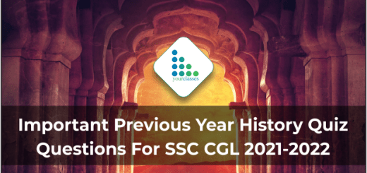 Important Previous Year History Quiz Questions For SSC CGL 2021-2022