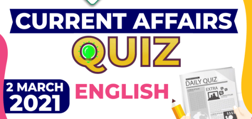 Daily Current Affairs 2 March 2021 English