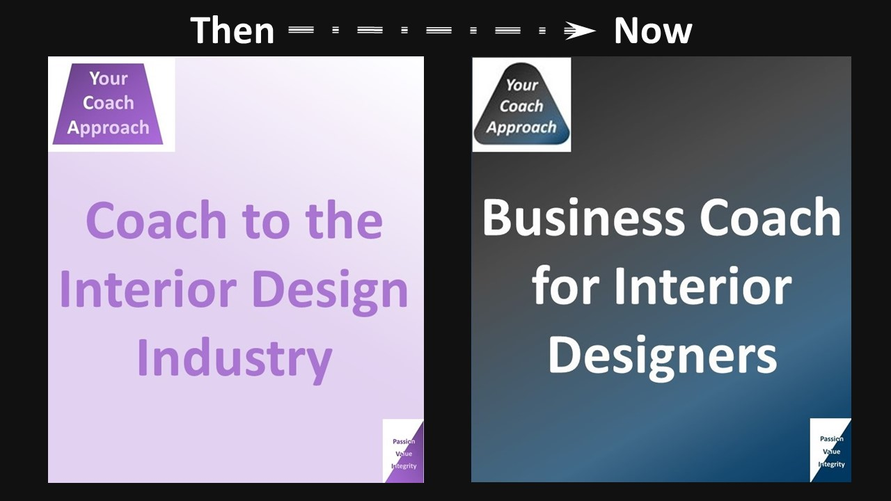 Interior Design Business Success - An old logo is contrasted with a new logo to show development of business