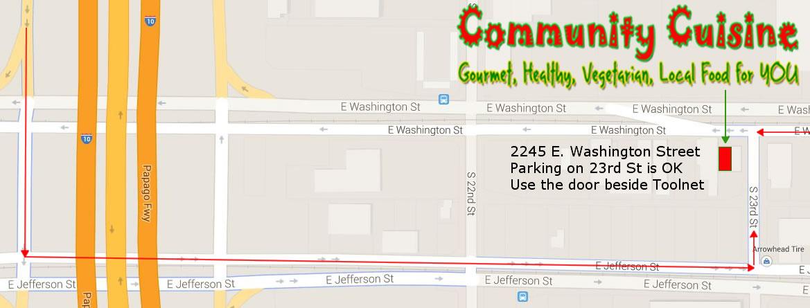 Contact Community Cuisines Vegetarian Food Phoenix - Map us foods pheonicx