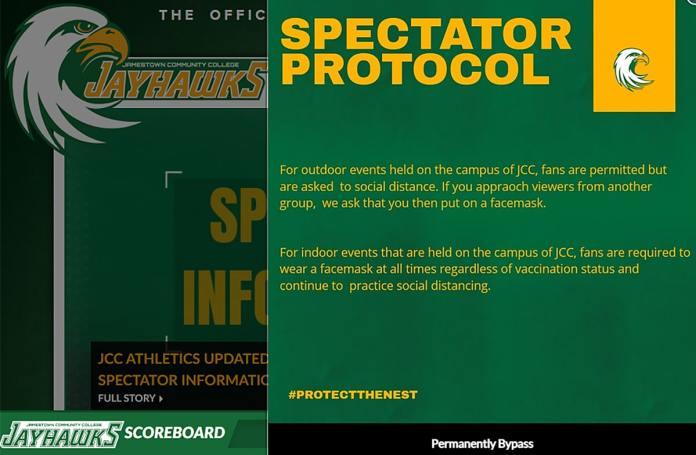 JCC Athletics Spectator Policy
