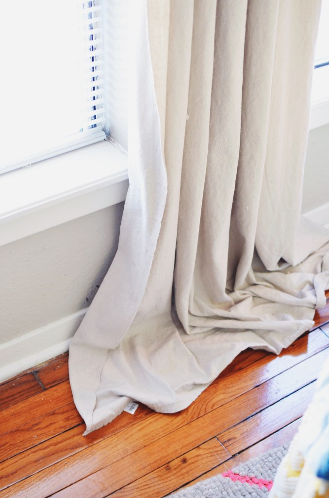 Dropcloth curtains!