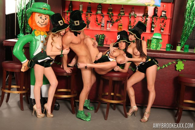 Amy Brooke in Saint Patricks Day Orgy