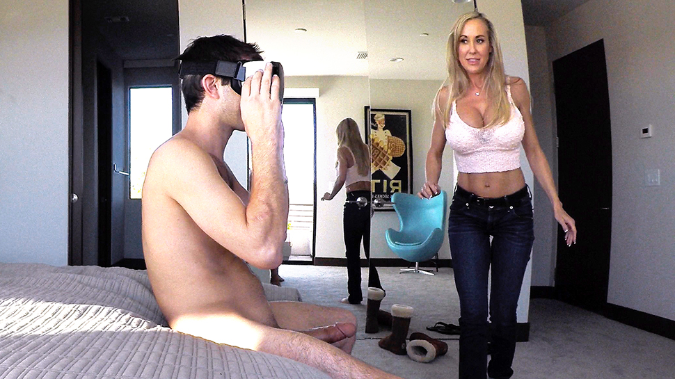 Brandi Love - Stepmom Plays With Gamer Son's Joystick
