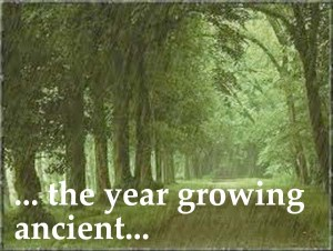 the year growing ancient, yet on summer's death, nor on the birth of trembling winter