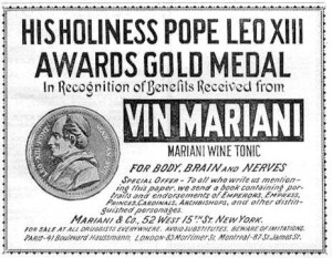 This very popular tonic drink was even endorsed by the Pope of the time