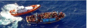 migrants crossing the Mediterranean to land in Italy. An example of striving immigrants Obama-style