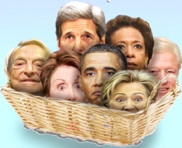 Image of a basket of deplorables, an illustration of an article and dialog by the same title
