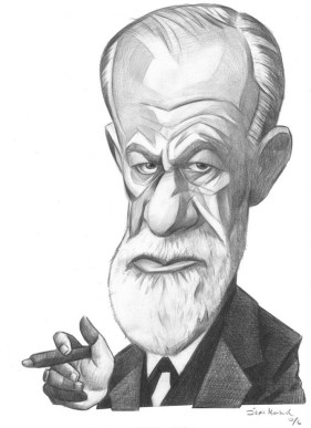 "Image iof Sigmund Freud, accompanying blog titled ""The Fraud of Freud"""