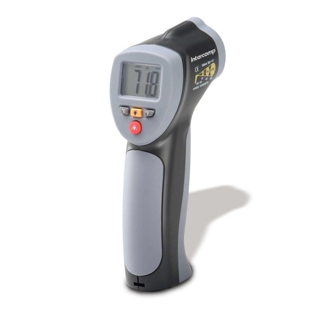 Measuring Racing Car Tyre Temperatures handheld IR gun