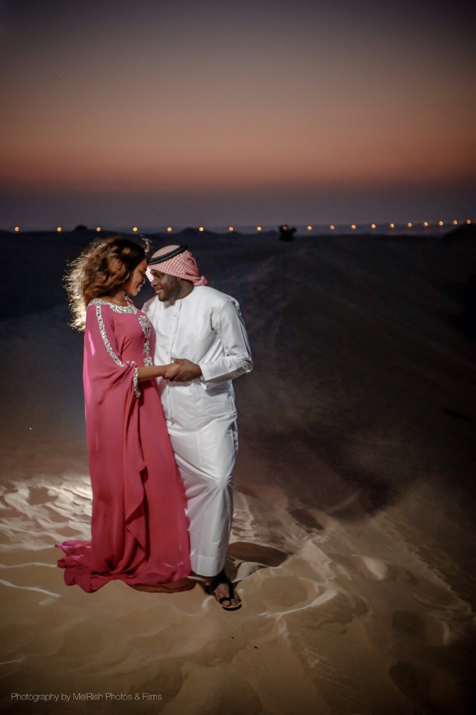 desert engaged dubai love