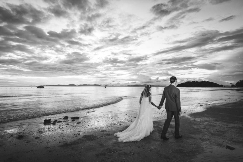 beach wedding sunset