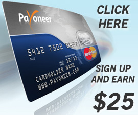 Sign Up to Payoneer and Earn $25