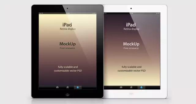 free psd ipad retina mockup template - Mockup Ipad Free