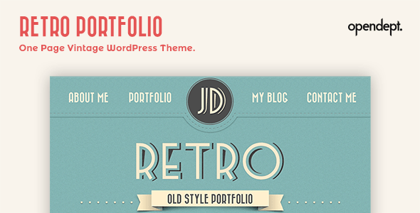 Retro Portfolio - One Page Vintage WordPress Theme